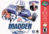 Madden NFL 2001 Nintendo 64 N64 Game Football EA 01