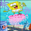 Sponge Bob Flying With Jellyfish Jigsaw Puzzle