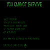 You cannot survive